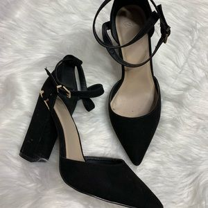 ASOS• Black Suede Stappy Heels
